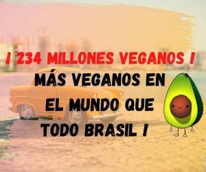 letrero que dice que hay 234 millones de veganos en el mundo