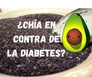 signo de la conecxion entre chia y diabetes, aguacate animado