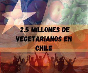 2.5 de veganos y vegetarianos en chile 2020 estadistica
