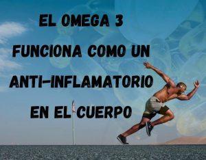 el omega 3 vegano como antiinflamatorio. anuncio con una persona que esta corriendo