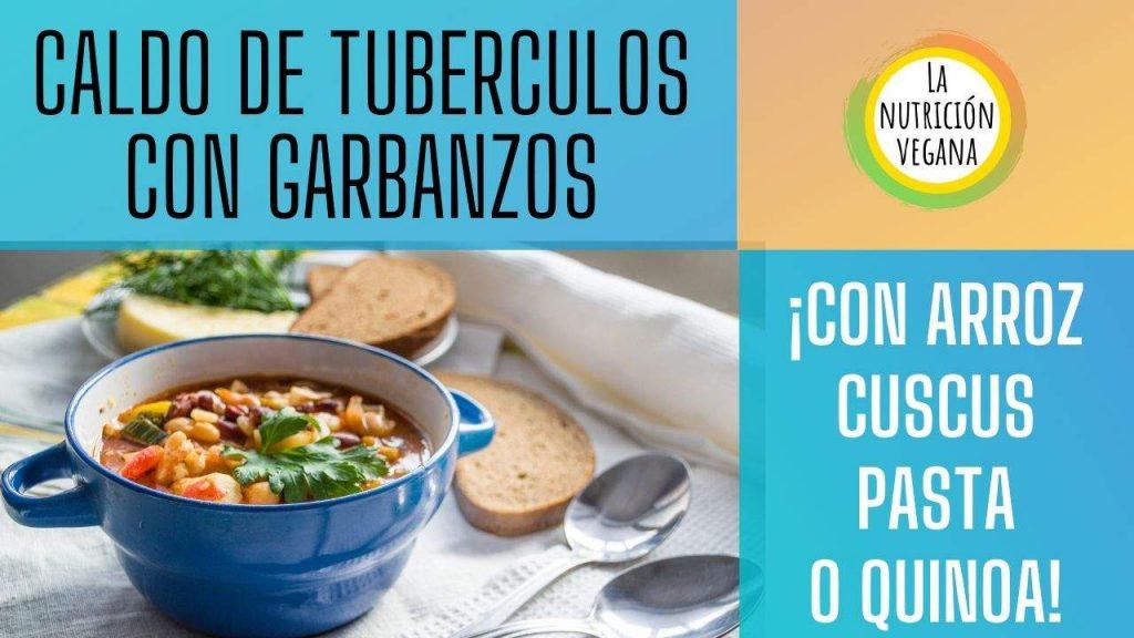 plato vegano caldo de tuberculos
