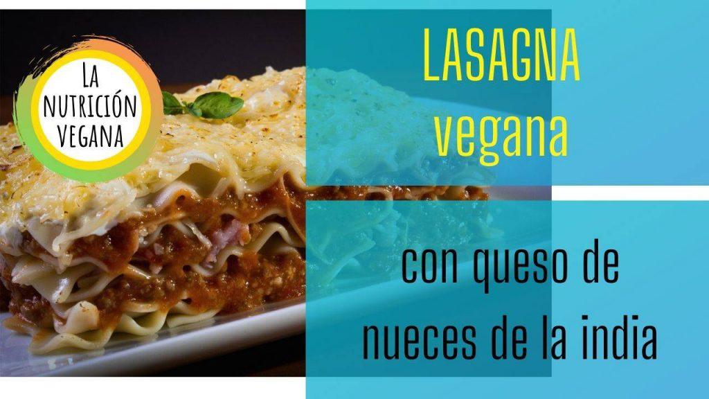 el plato de lasagna vegana