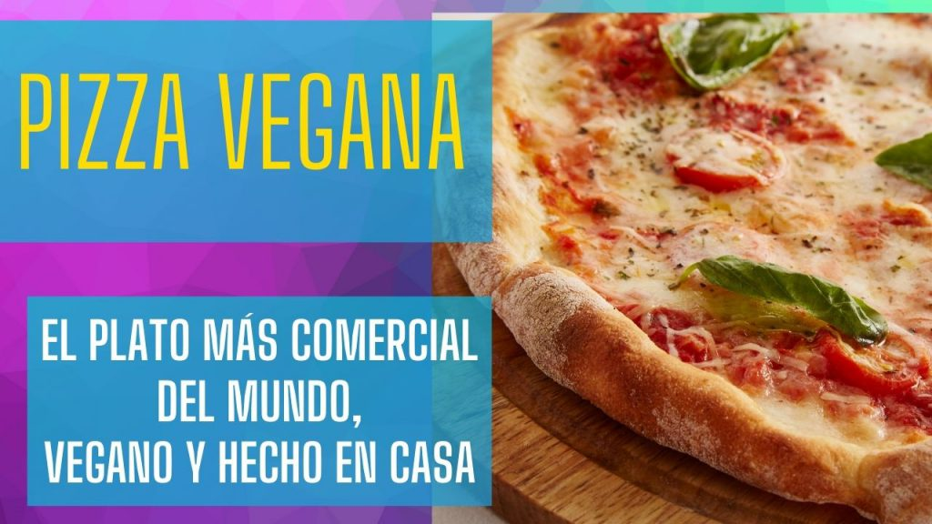 plato de pizza vegana