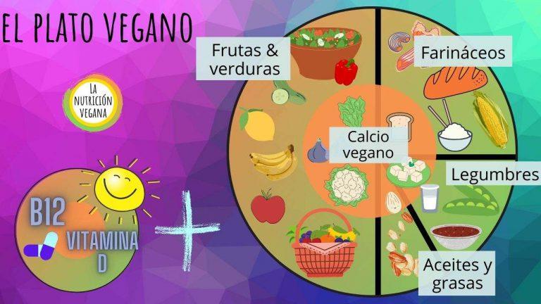 plato vegano ilustración